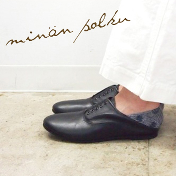 minan polku【ミナンポルク】ソフトレザーバルモラルシューズ M329