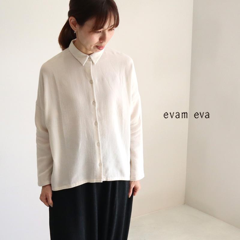 evam eva エヴァムエヴァ コットンシャツ E213T055