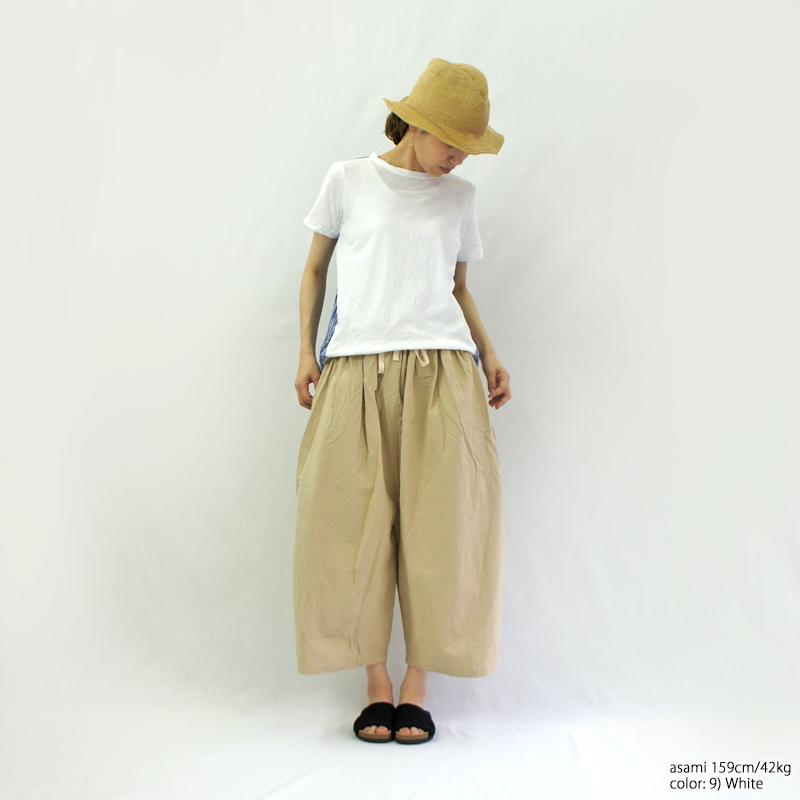 NARU【ナル】ムラ糸リサイクル天竺×ストライプ切替プルオーバー 633070