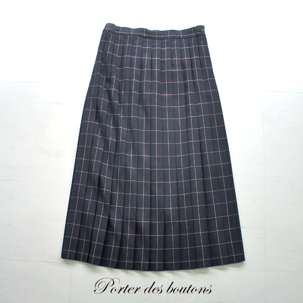 Porter des boutons【ポルテデブトン】ラメウィンドペンプリーツスカート P-20037
