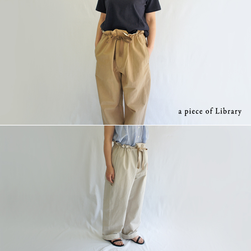 a piece of Library ア ピース オブ ライブラリー セントヴィレッジワイドパンツ 520106