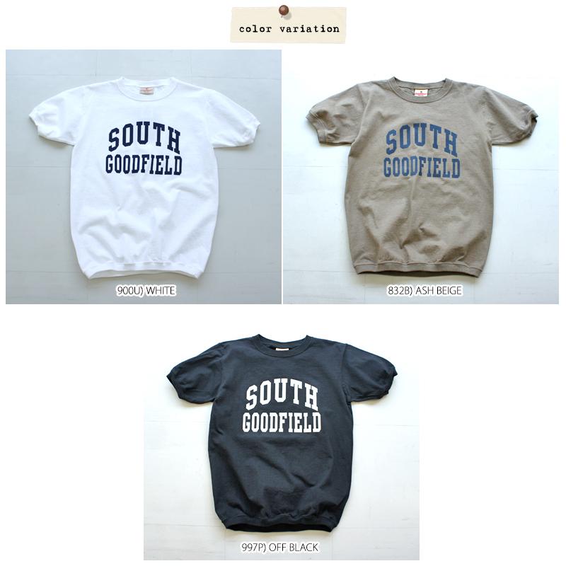 """【メール便可】Goodwear グッドウェア """"SOUTH"""" 半袖ロゴTシャツ(7.2oz crew neck cuff&hem rib) NGT9801-2384"""