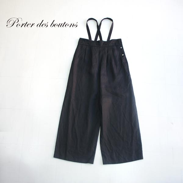 Porter des boutons【ポルテデブトン】リネンオールインワン P-19131