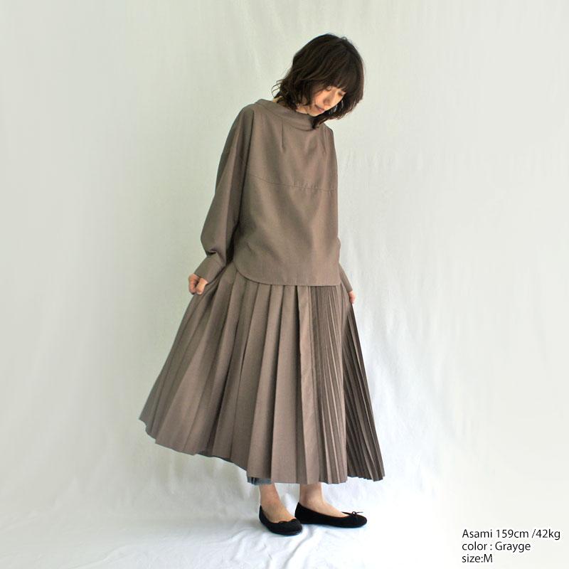 kelen【ケレン】プリーツアシンメトリースカート 『Asry』 LKL19FSK1