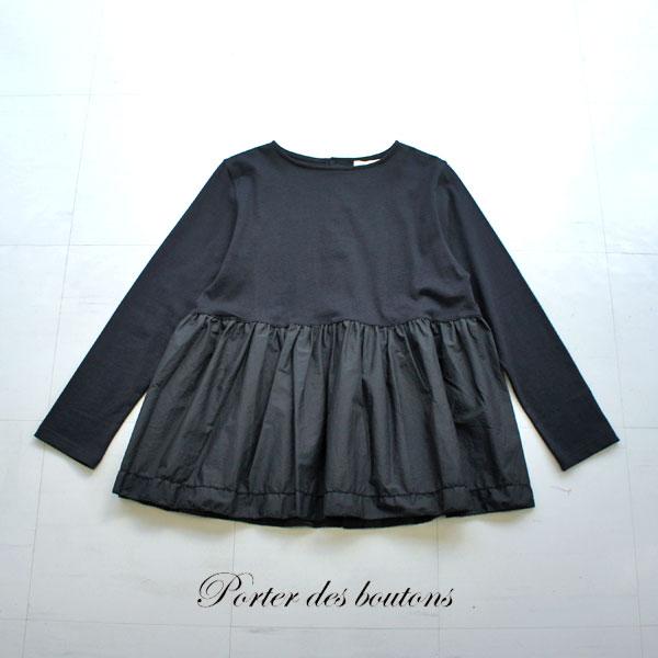Porter des boutons ポルテデブトン 裾ピコロングプルオーバー P-20137