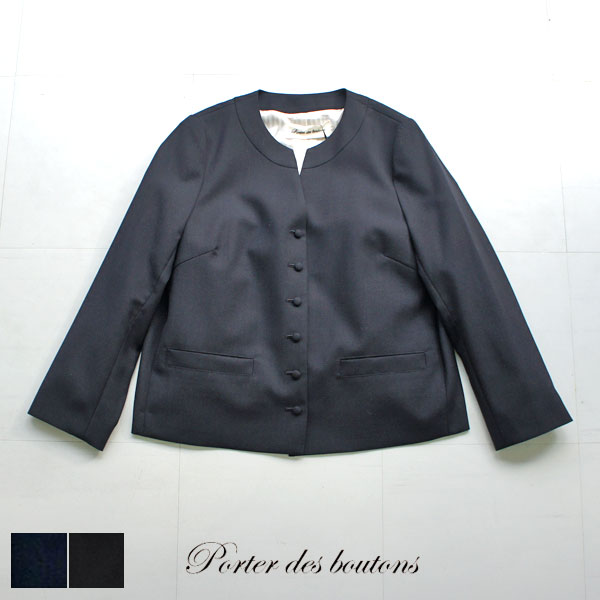 Porter des boutons ポルテデブトン 強撚クロスバックフレアジャケット P-20102