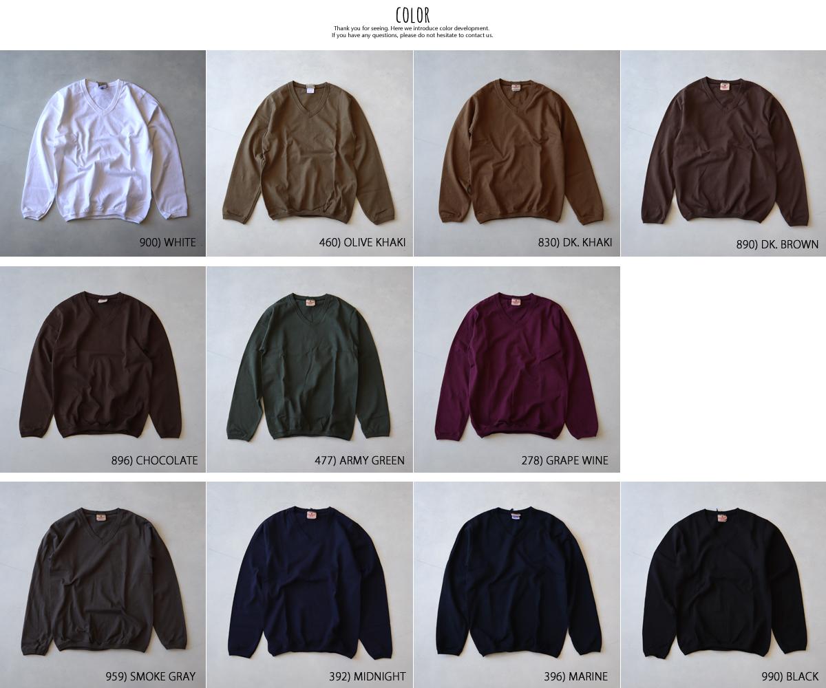 【メール便可】Goodwear グッドウェア Vネックロングスリーブティー NGW1851