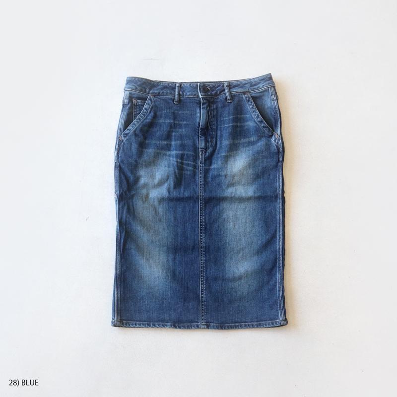 Brocante ブロカント 綿リヨセルストレッチデニム ドルアットスカート ドミンゴ 37-076D