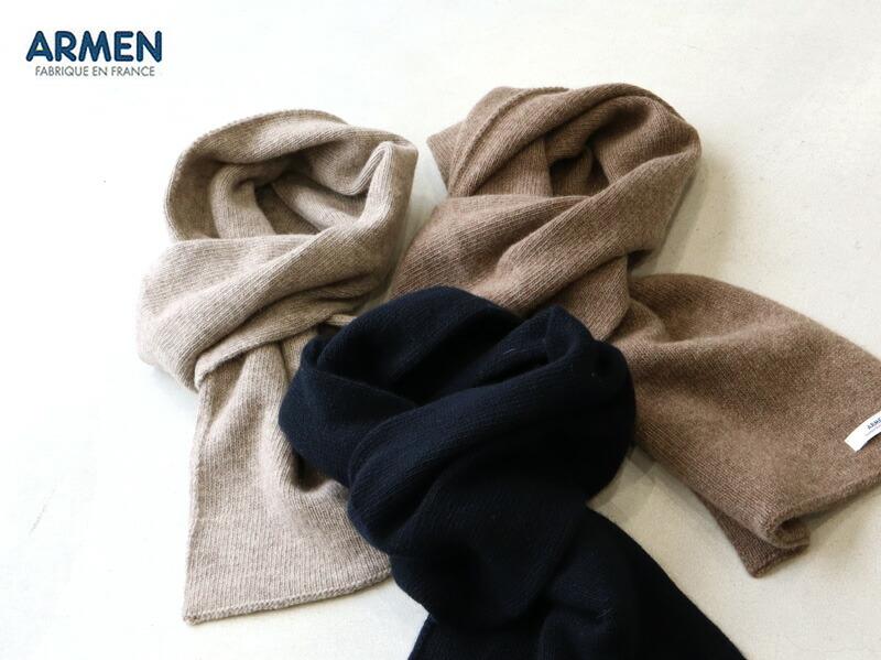 【メール便可】ARMEN アーメン ウールカシミアループスカーフ BAAM1961