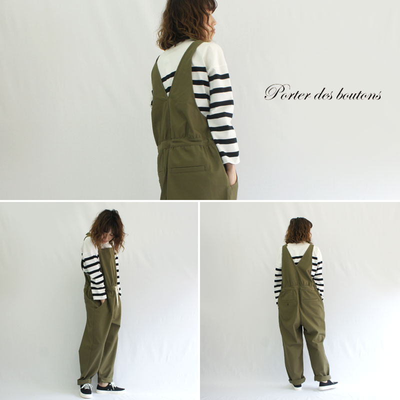 Porter des boutons【ポルテデブトン】サロペット P-19152