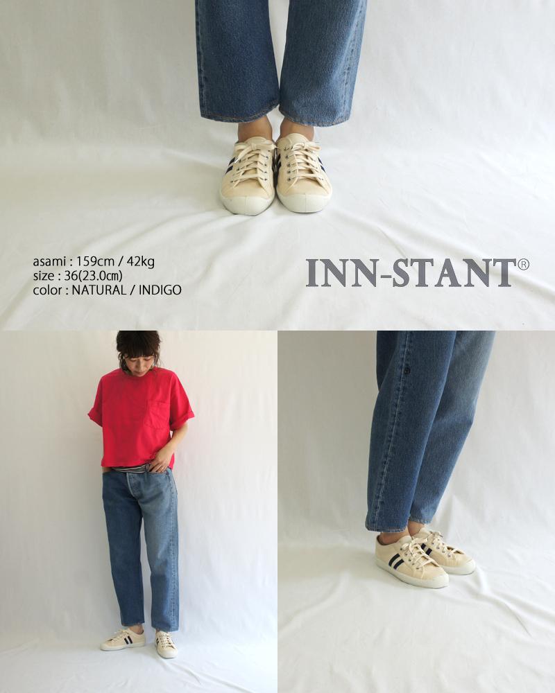 INN-STANT【インスタント】キャンバスローカットスニーカー ヴァルカナイズドスニーカー レディース スロバキア INN-STANT