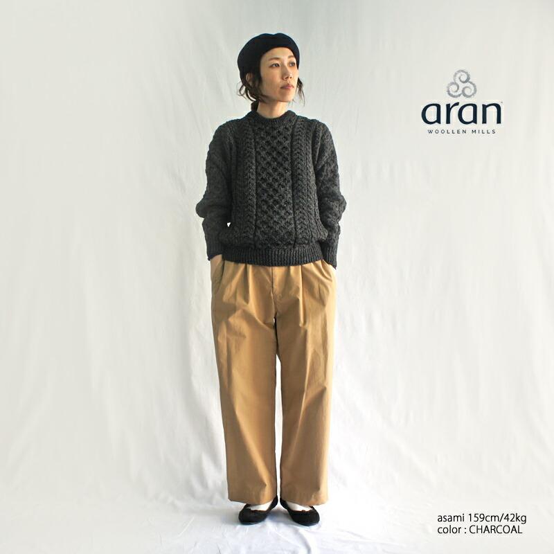 Aran Woollen Mills【アランウーレンミルズ】アイリッシュウールアランニットプルオーバー CDF103001