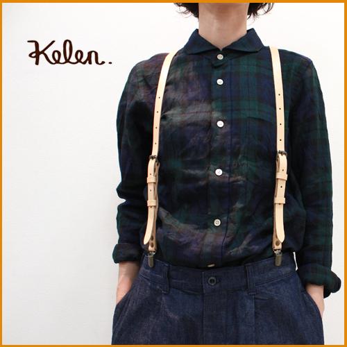 kelen【ケレン】イタリアンレザー サスペンダー『kito』 LKL10HAC1