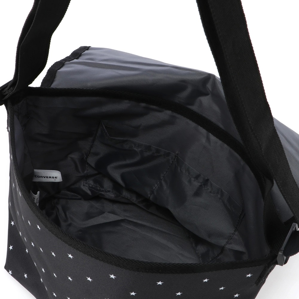 LOGO PRINT FLAP BAG