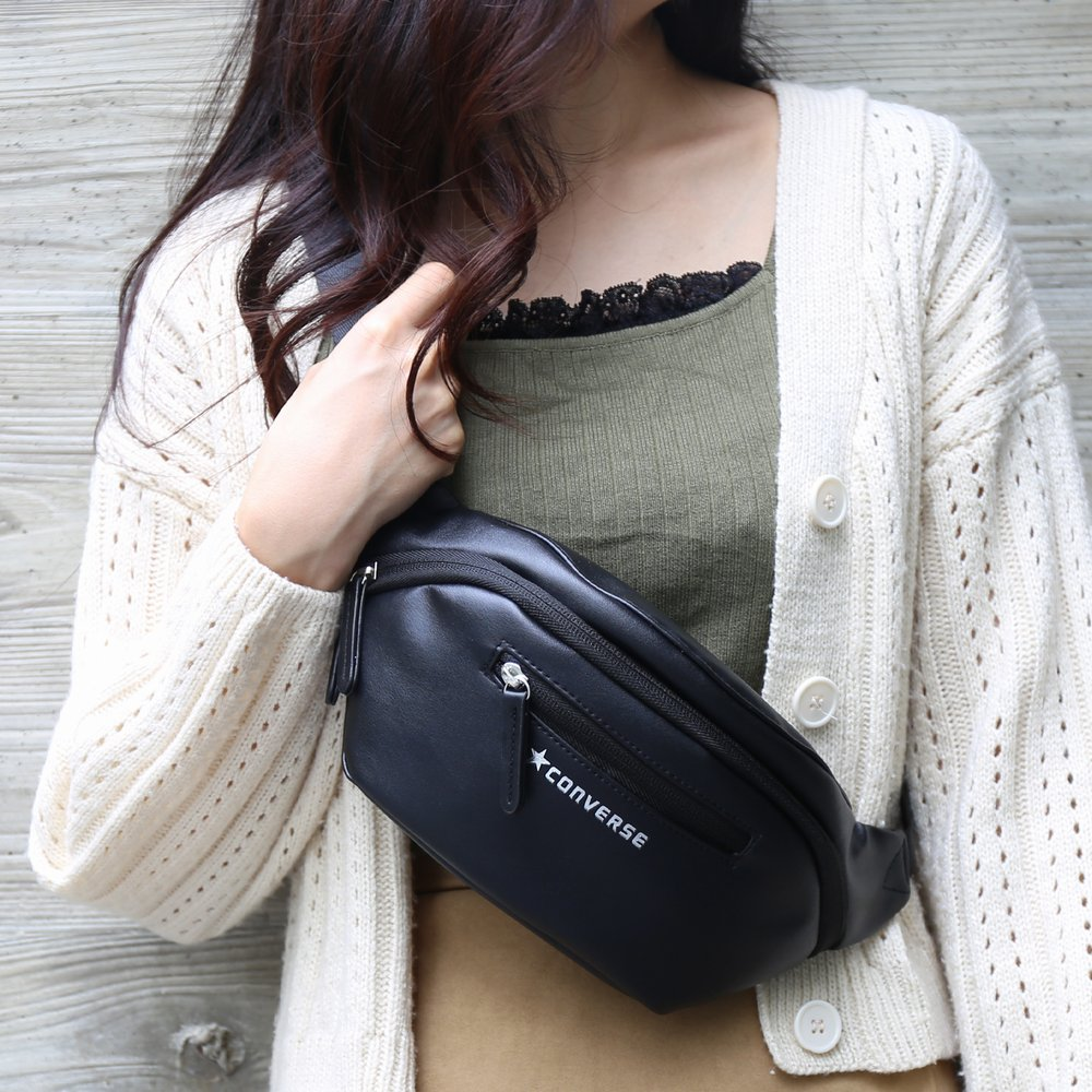FAKE LEATHER WAIST POUCH