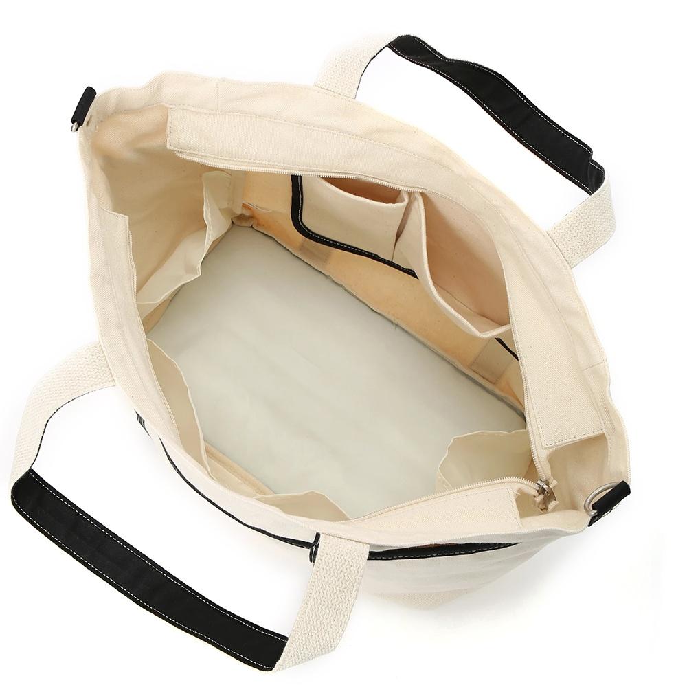 LOGO 刺繍 CANVAS BIG SHOULDER BAG