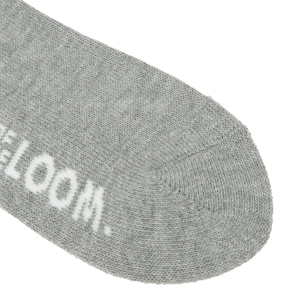 クルー丈底パイル刺繍3Pソックス