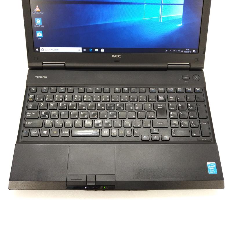 テンキー付き 中古ノートパソコン Windows10 NEC VersaPro VK24L/X-H Core i3-2.4Ghz メモリ4GB HDD320GB DVDROM 15.6型 無線LAN WPS Office (IN43t-10Wi) 3ヵ月保証 中古パソコン