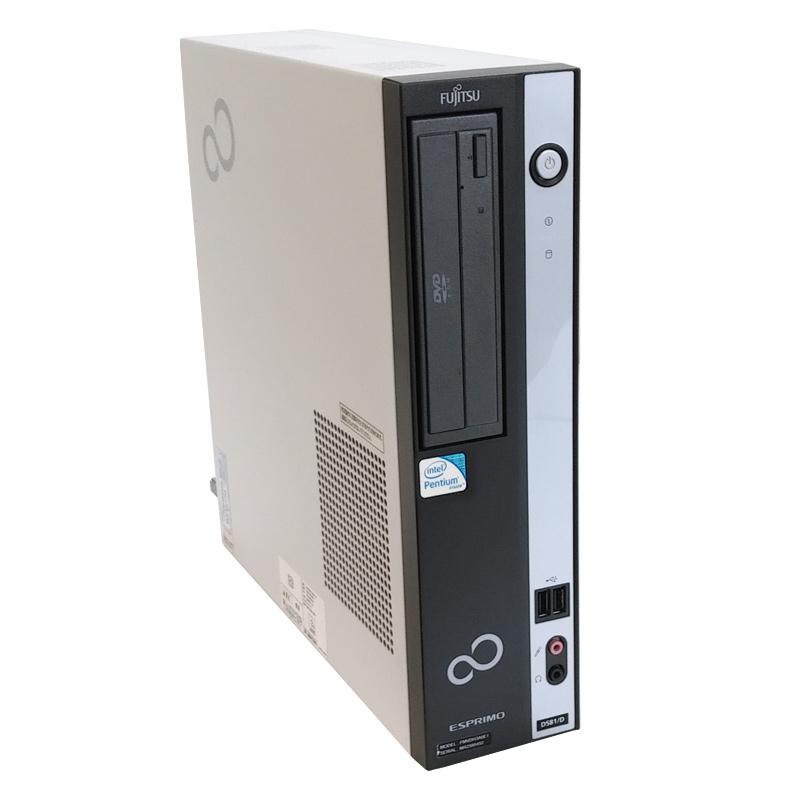 富士通 ESPRIMO D581/D  液晶モニタ・Microsoft Office(Word, Excel)付 Windows XP PentiumG630 メモリ2GB HDD250GB DVDROM [19型液晶付き] (YF12xL19of) 3ヵ月保証 中古デスクトップパソコン