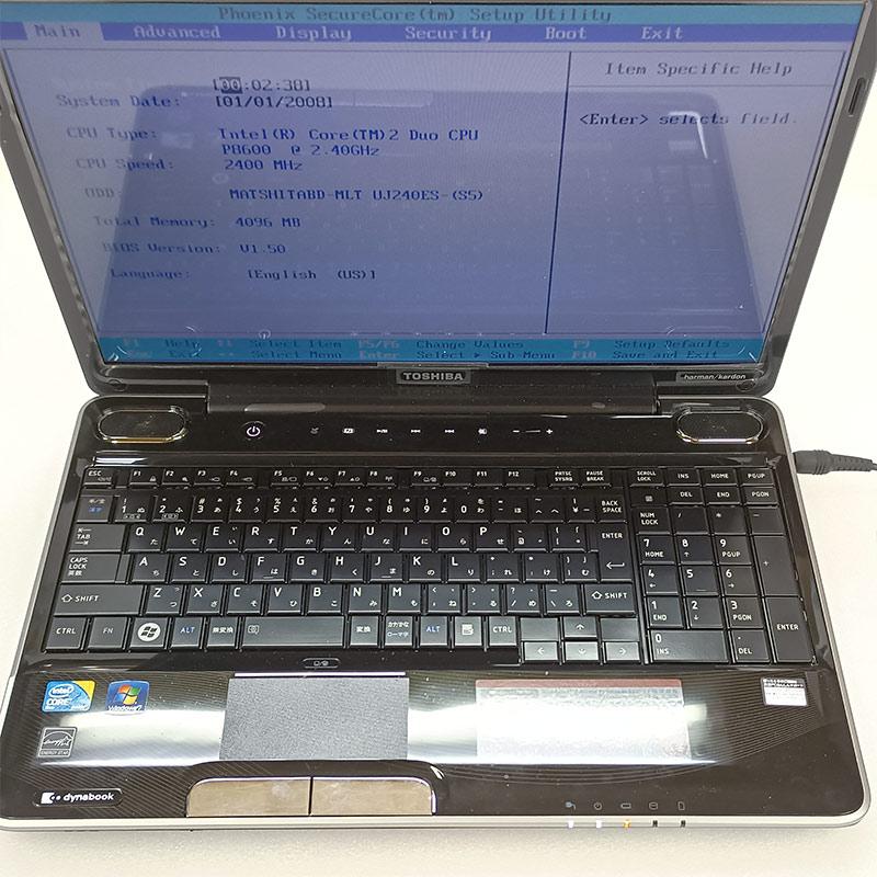 【ジャンク品】 東芝 dynabook TX65KBLJ ジャンクPC ジャンクパソコン 【ACアダプタ付き】 保証無し