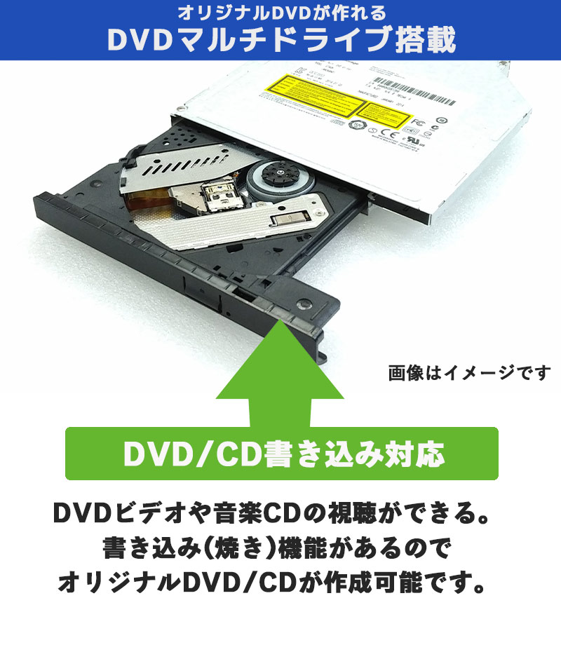 中古ノートパソコン 店長おまかせ高速動作・SSDノートPC  Windows10 Cprei3第5世代 メモリ8GB SSD256GB DVDマルチ 15.6型 無線LAN WPS Office (om0002) 3ヵ月保証 / 中古パソコン