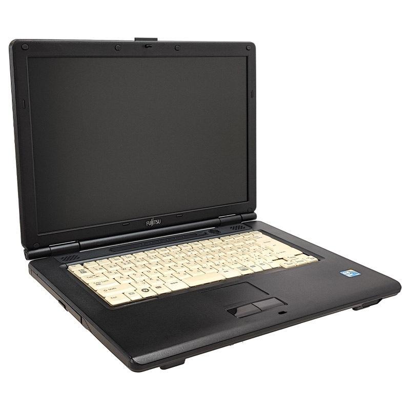 中古ノートパソコン 富士通 FMV-A8280 WindowsXP Cpre2D-2.53Ghz メモリ4GB HDD250GB DVDROM 15.4型  (P47x) 3ヵ月保証 / 中古ノートパソコン 中古パソコン