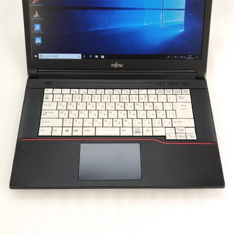 中古ノートパソコン 【 Microsoft Office ( Word Excel )搭載】 Windows10Pro 富士通 LIFEBOOK A574/M Core i5-2.7Ghz メモリ4GB HDD320GB DVDマルチ 15.6型 無線LAN (JF66mWiof) 3ヵ月保証 中古パソコン