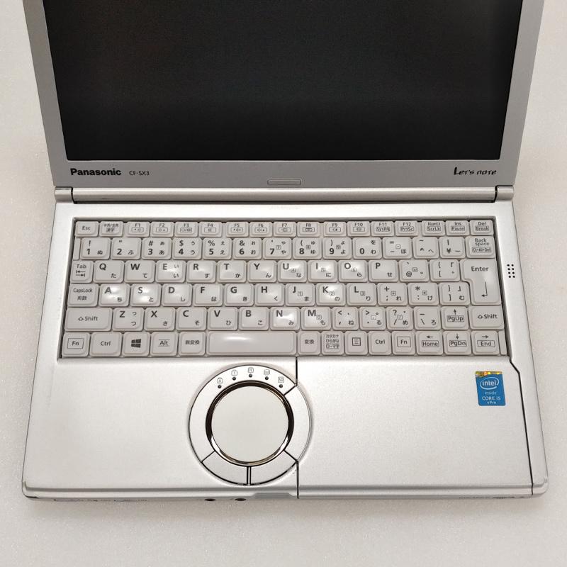 中古ノートパソコン Panasonic Let's note CF-SX3 Windows10 Corei5-2Ghz メモリ4GB HDD320GB DVDマルチ 12.1型 無線LAN WPS Office (BP46m-10cWi) 3ヵ月保証 / 中古ノートパソコン 中古PC