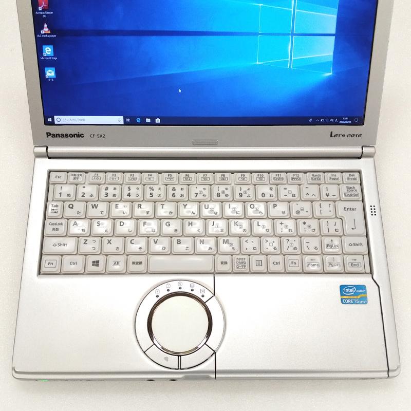 中古ノートパソコン 【 Microsoft Office ( Word Excel )搭載】 Windows10 Panasonic Let's note CF-SX2 Core i5-2.7Ghz メモリ4GB HDD250GB DVDマルチ 12.1型 無線LAN WEBカメラ (BP26m-10cWiof) 3ヵ月保証 中古パソコン