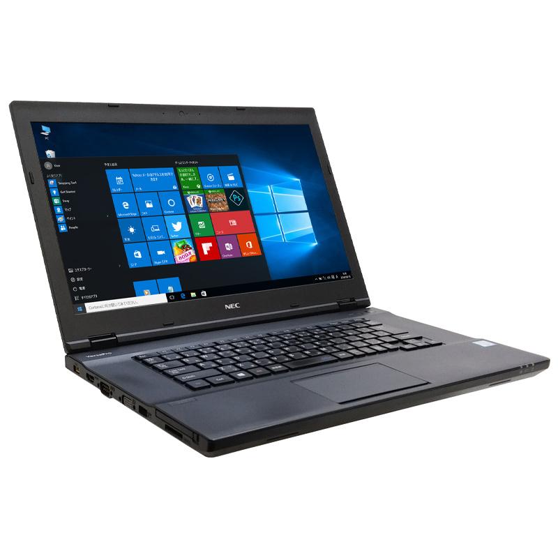 中古ノートパソコン NEC VersaPro VK24M/X-T Windows10Pro Corei5-2.4Ghz メモリ8GB HDD500GB DVDマルチ 15.6型 無線LAN WPS Office (IN76mkk) 3ヵ月保証 / 中古ノートパソコン 中古PC