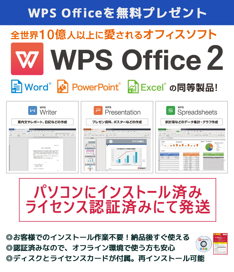 中古パソコン NEC Mate MK36L/E-M Windows10Pro Corei3 4160 メモリ4GB HDD250GB DVDROM WPS Office (ZN53) 3ヵ月保証 / 中古デスクトップパソコン