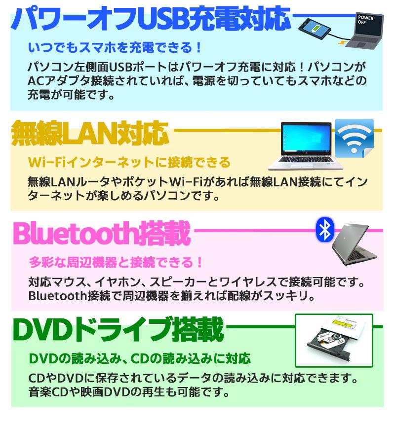 中古ノートパソコン NEC VersaPro VK24/AA-1 Windows10Pro Corei3 7100U メモリ16GB SSD128GB DVDROM 15.6型 無線LAN WPS Office (LN83swi) 3ヵ月保証 / 中古ノートパソコン 中古パソコン