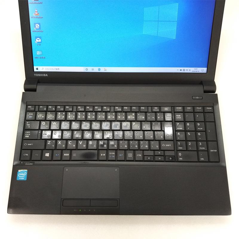【訳あり】 中古ノートパソコン 【 Microsoft Office ( Word Excel )搭載】 Windows10 東芝 Dynabook Satellite B453/M Celeron-1.9Ghz メモリ4GB HDD320GB DVDROM 15.6型 WEBカメラ [マウス付き] (IT30t-10cwof) 3ヵ月保証 中古パソコン