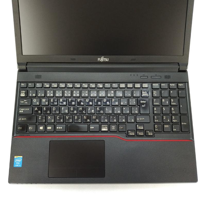 テンキー付き  中古ノートパソコン 富士通 LIFEBOOK A574/H Windows10 Corei3-2.4Ghz メモリ4GB HDD320GB DVDROM 15.6型 WPS Office (IF34t-10) 3ヵ月保証 / 中古ノートパソコン 中古PC