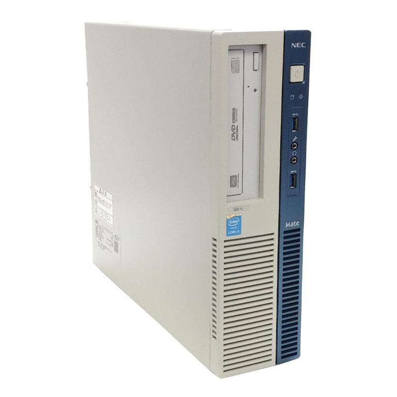 中古パソコン NEC Mate MK34L/B-H Windows10 Corei3 4130 メモリ4GB HDD250GB DVDROM WPS Office付き [液晶モニタ付き](1895L19) 3ヵ月保証 / 中古デスクトップパソコン