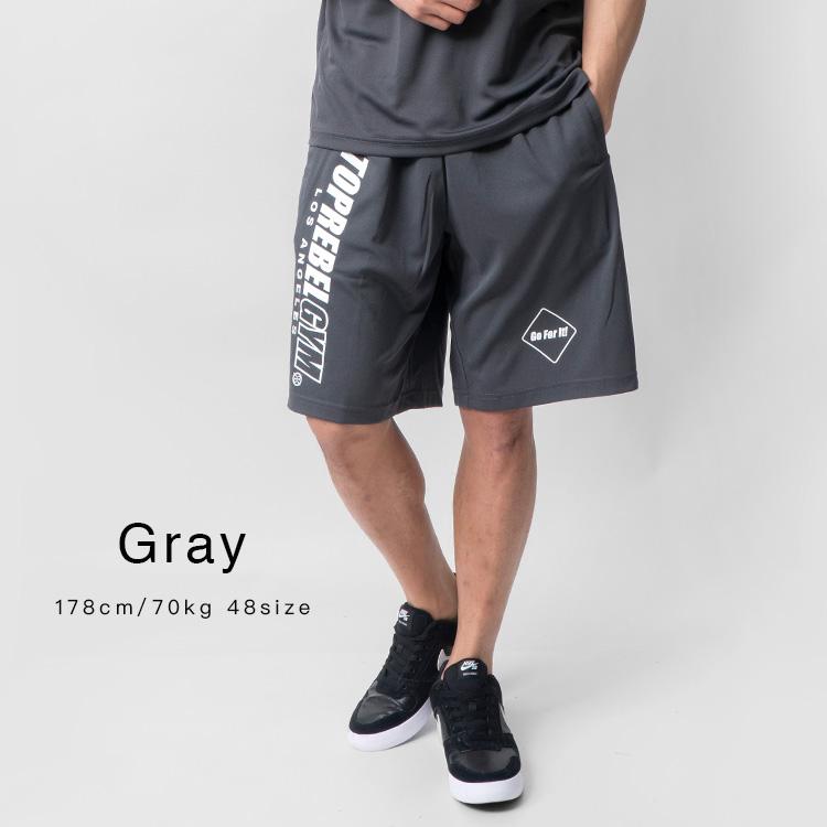 【SALE】TOPREBEL GYM Logo ドライメッシュハーフパンツ