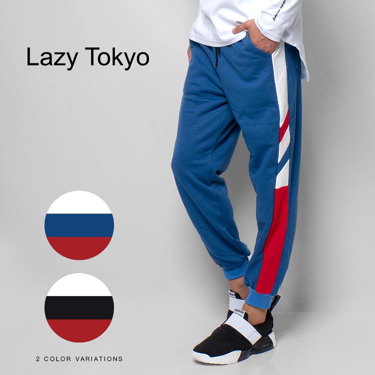 【SALE】Lazy Tokyo Interrupted Side Lineスエットパンツ