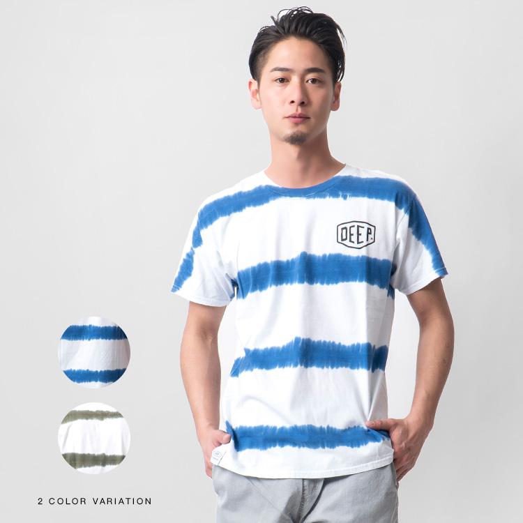 【SALE】DEEP Tai-Dai Border Tシャツ