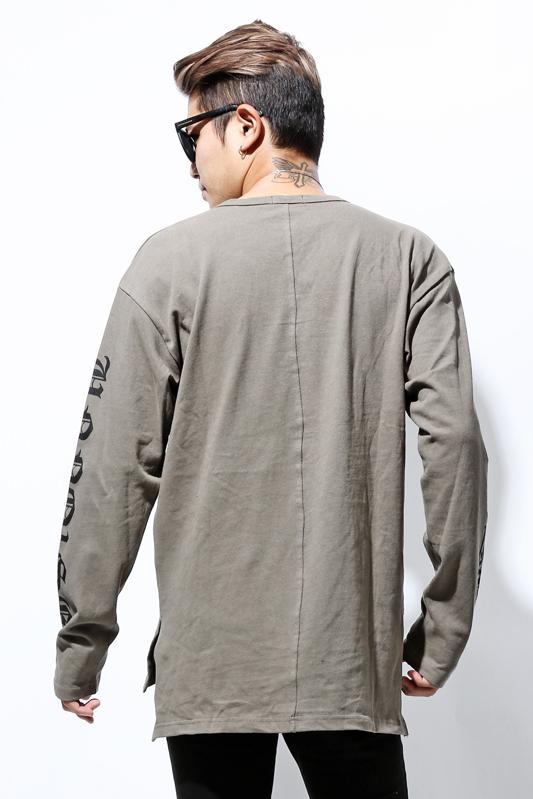【SALE】UNNO1SE Sleeve Print Long LengthロンT