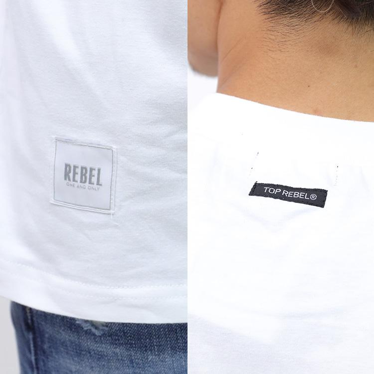 【SALE】RebeL Sleeve Multi Logo Loose FitロンT