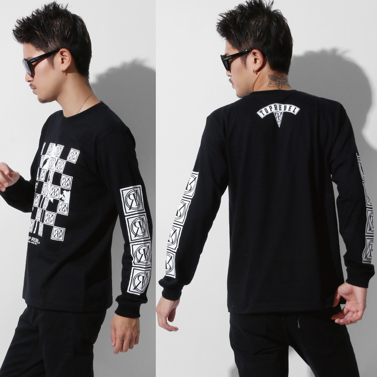 【SALE】RebeL Square Logo Palm TreeロンT