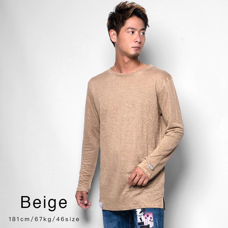 【SALE】DEEP Long Length LinenロンT