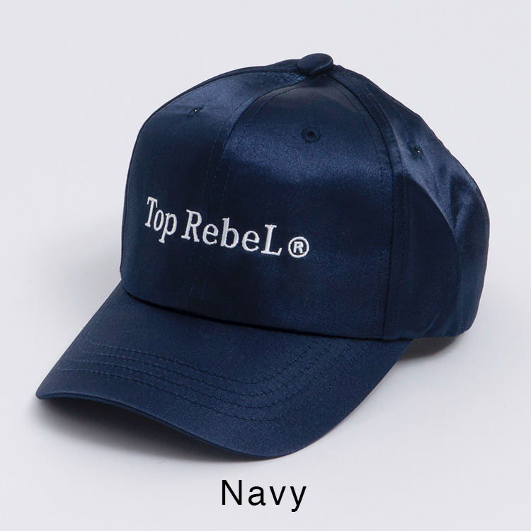 【SALE】RebeL Serif Logo TopRebeLサテンパネルキャップ