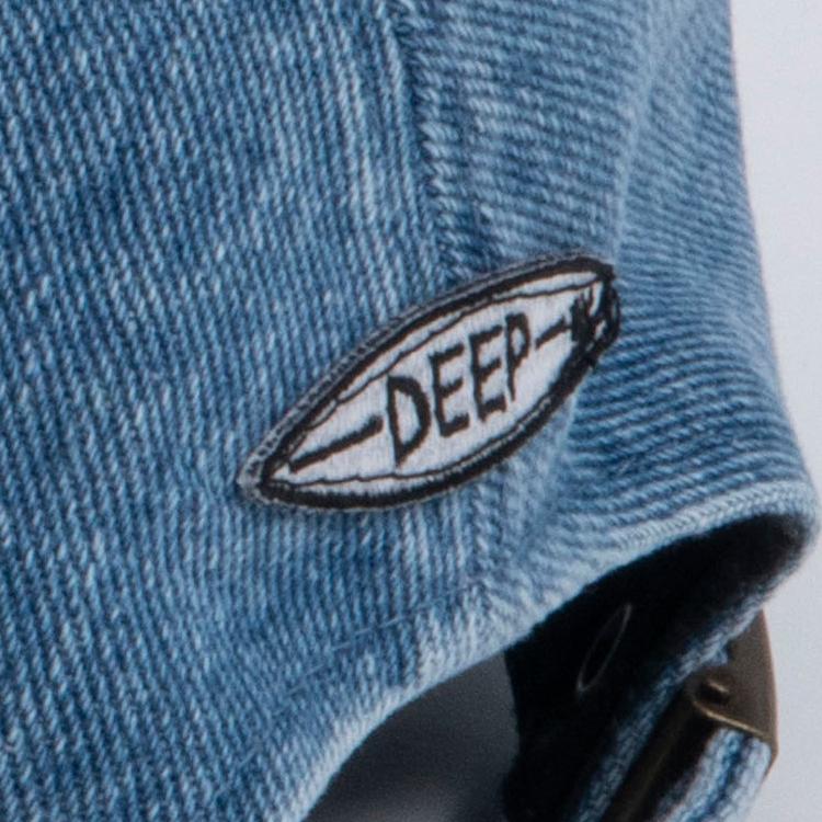 【SALE】DEEP Palm Tree Logoデニムパネルキャップ