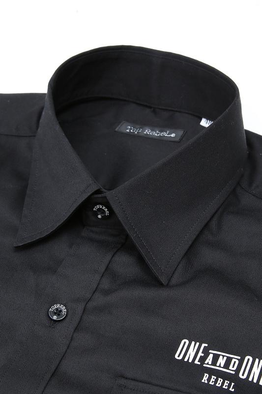 【SALE】RebeL Back Knuckle Printワークシャツ