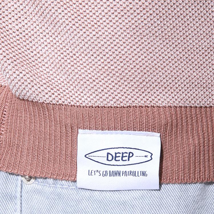 【SALE】DEEP Bicolor半袖クルーネックニット