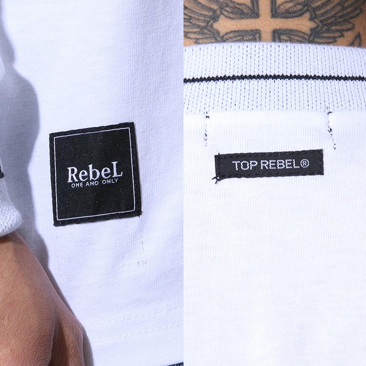 【SALE】RebeL Logo Rib Loose FitロンT