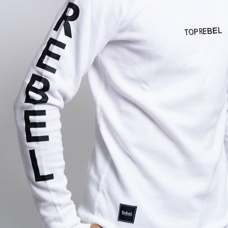 【SALE】RebeL Sleeve NameサーマルロンT