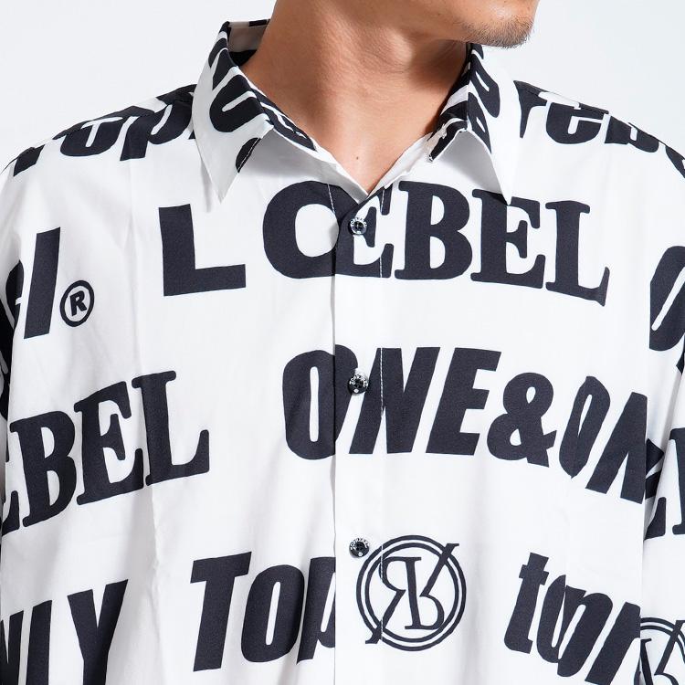 【SALE】RebeL Logo Pattern Big Silhouetteシャツ