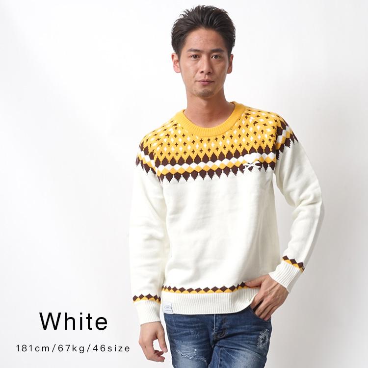 【SALE】DEEP Centripetal Knittingクルーネックニット